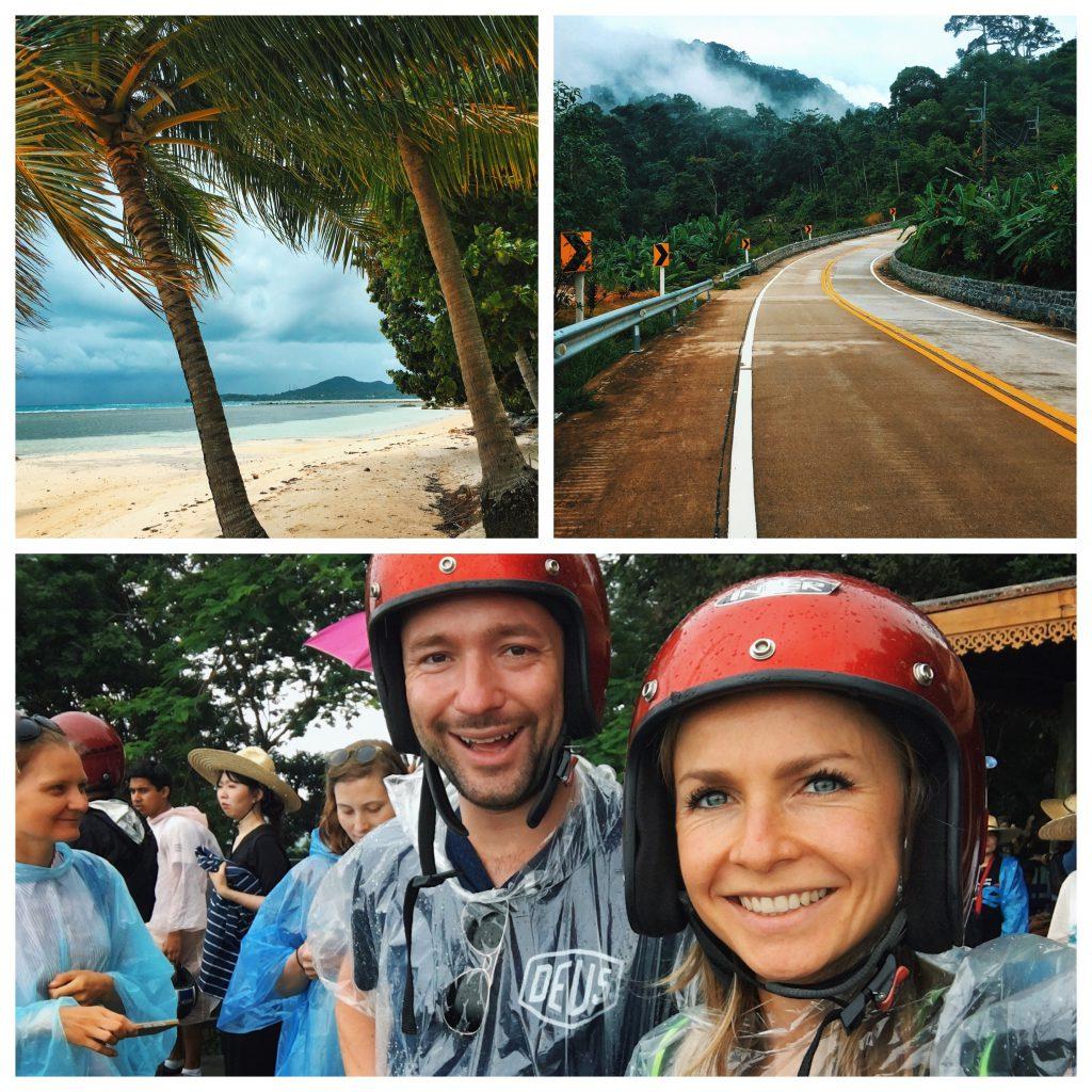 Thailand travel chiang mai rain season rainy scooter helmets