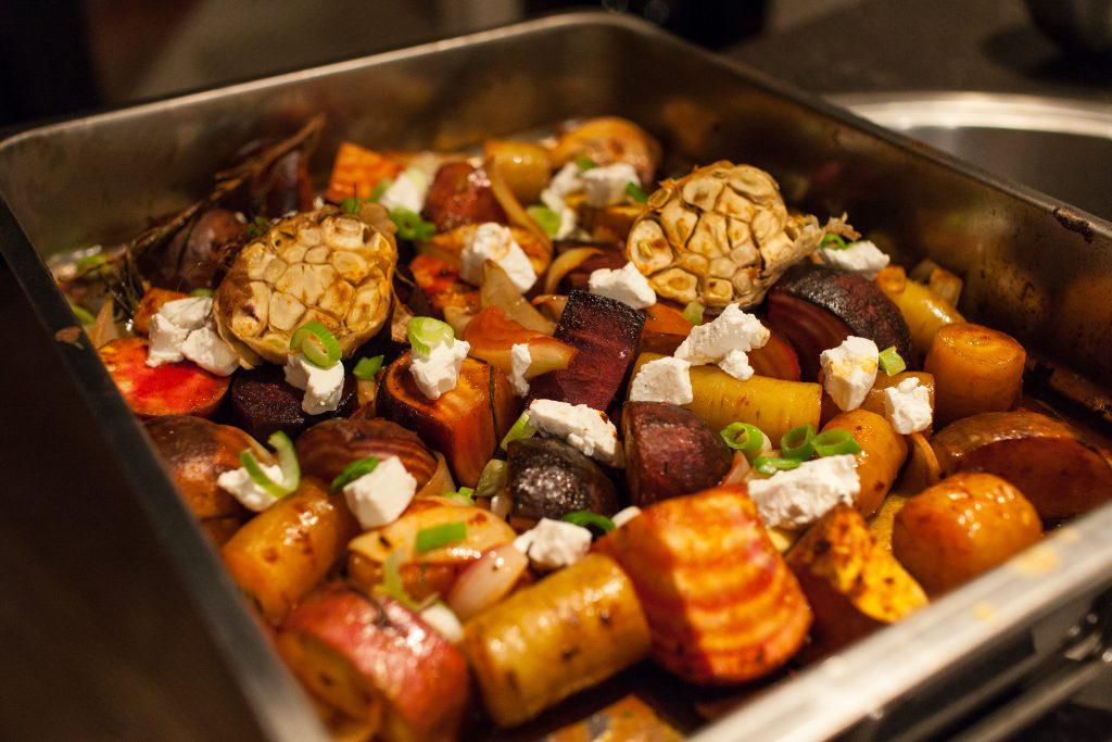 herfst recept seizoensgroenten geitenkaas braadslede oven