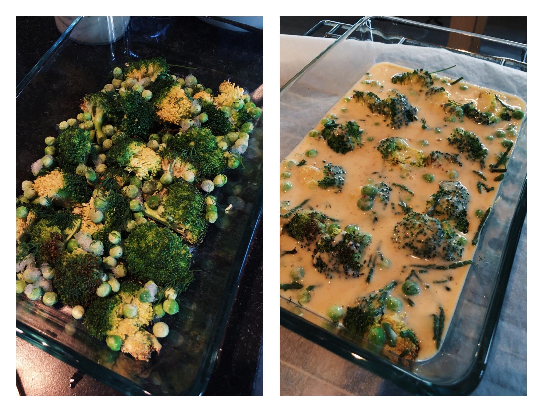 zalmquiche broccoli zeekraal dille doperwt glutenvrij zuivelvrij lactosevrij recept oven