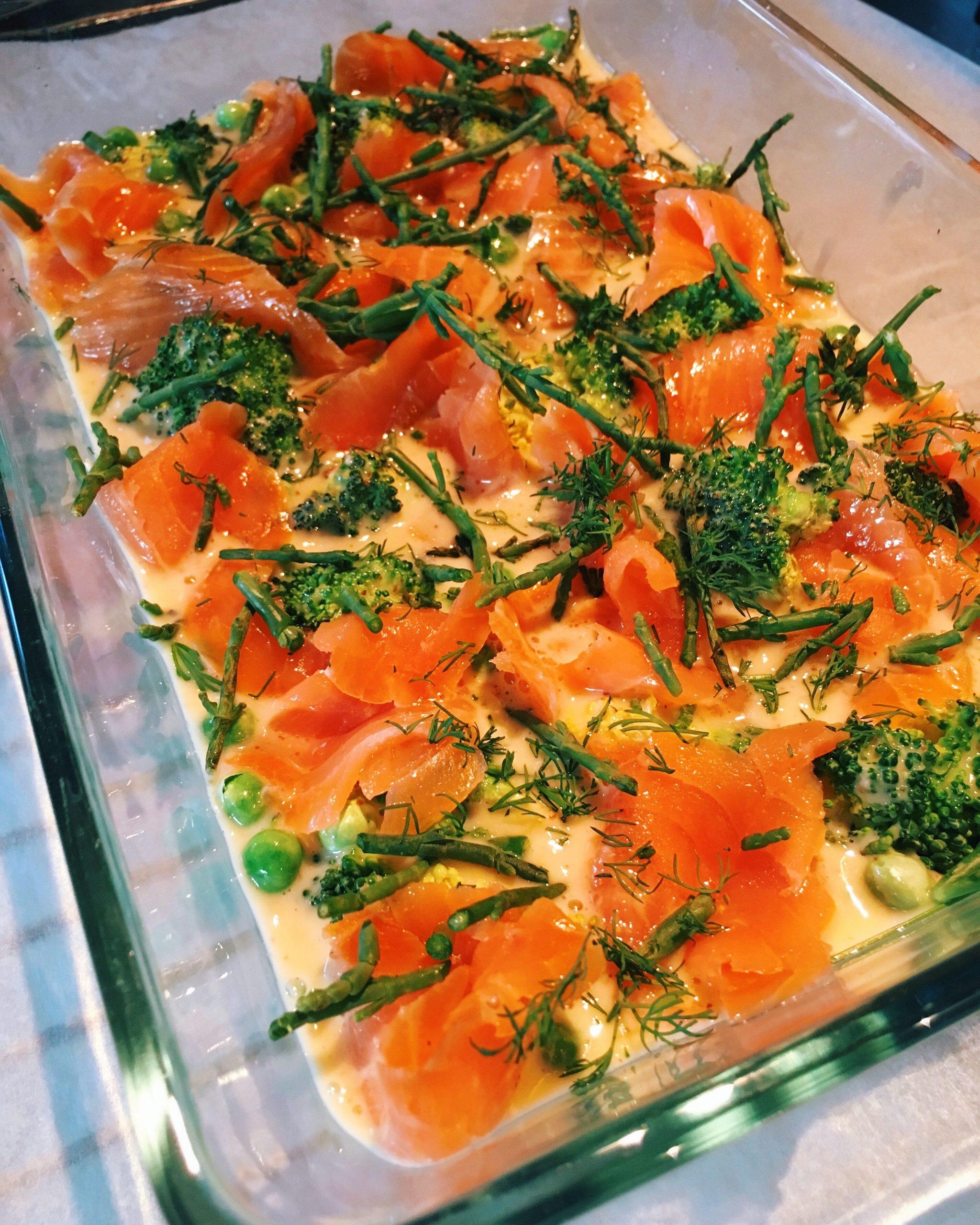 zalm quiche glutenvrij zuivelvrij recept oven
