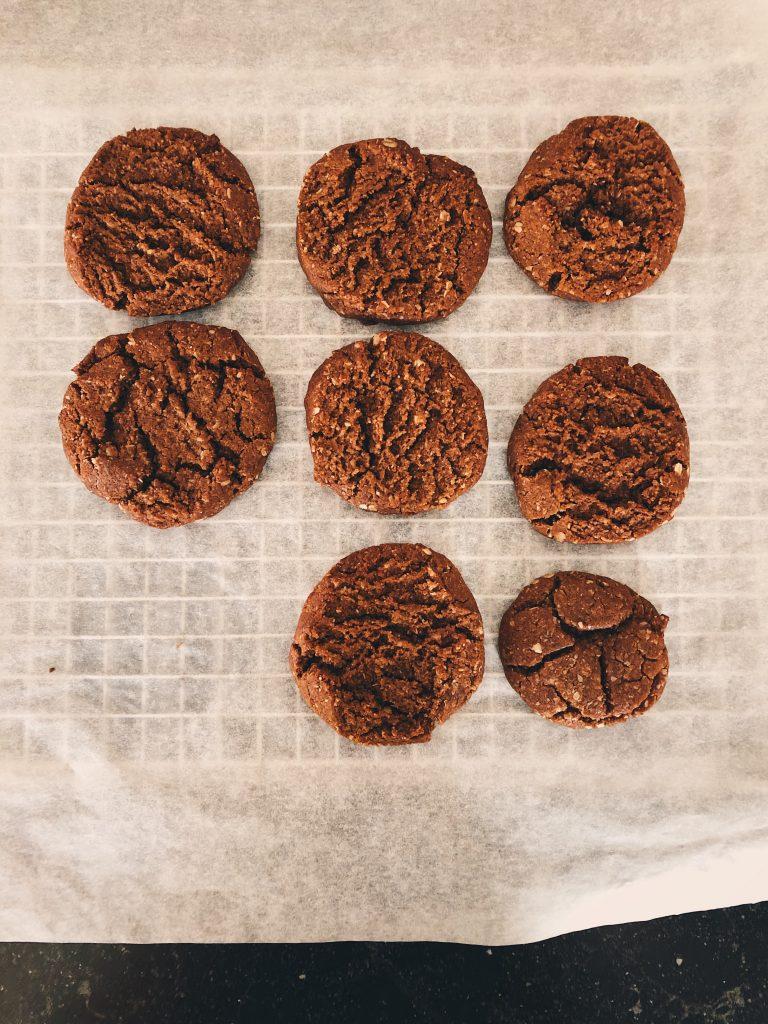pindakaas havermout koeken glutenvrij
