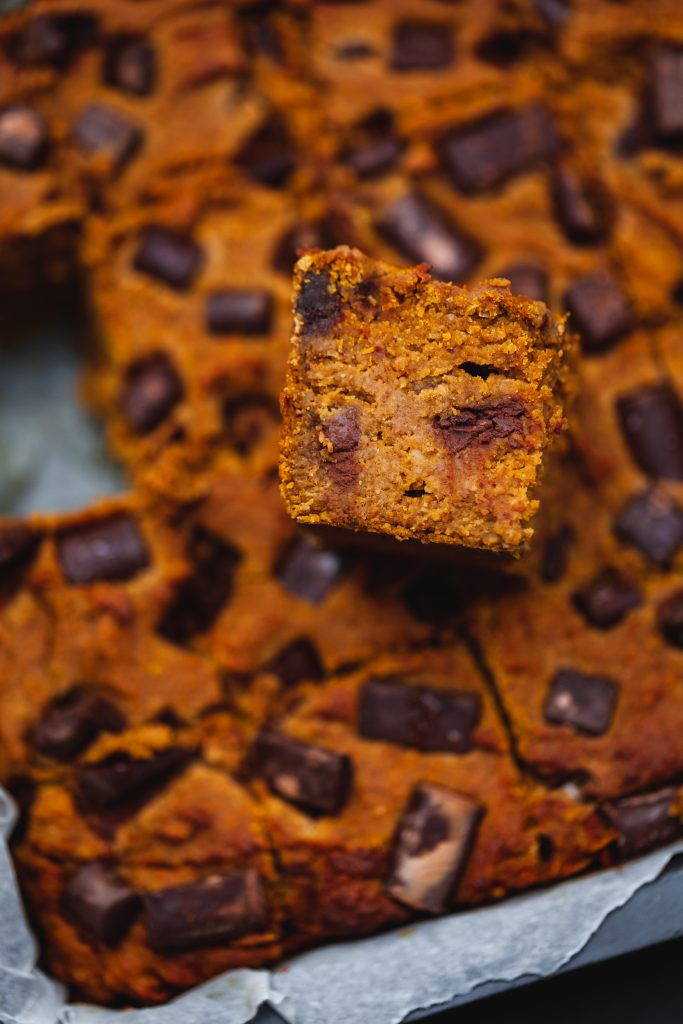 pumpkin blondies vegan gluten free